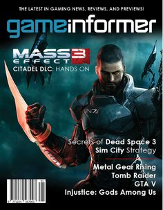 Game Informer Cover Mock Up by on DeviantArt Gaming Magazines, Video Game Magazines, Metal Gear Rising, Game Informer, Dead Space, Digital Technology, Videos, Mockup, Video Games