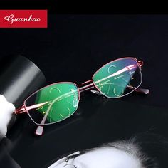 7b3643bc2e6 Guanhao Progressive Multifocal Multifocus Glasses Multi Focus Reading  Glasses Transition Women Men Eyewear Frames. Yesterday s