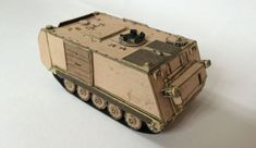 This vehicle paper model is a simple a fully tracked armored personnel carrier (APC) that was developed by Food Machinery Corp (FMC), the papercraft Free Paper, Diy Paper, Paper Crafts, Military Personnel, Military Vehicles, Wold Of Tanks, Papercraft Download, Armoured Personnel Carrier, Model Tanks