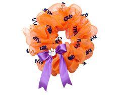 Clemson Wreath  #Clemson #ClemsonTigers #ClemsonUniversity #Tigers #CU