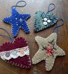 wool ornaments