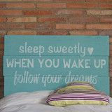 Cabecero SleepSweetly turquesa by LFP   BelandSoph.com