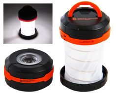 led lantern - Not having a flashlight during a camping trip is a rookie mistake that will make anything after dark almost impossible, but this accordion-style LE. Led Camping Lantern, Led Lantern, Camping Lights, What To Bring Camping, Sun Canopy, Survival Prepping, Survival Stuff, Camping Gear, Flashlight