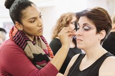 Ask Fashion By Amanda Koker: Season 10, photo 48 of 52 Photographer: Cat Laine of the Painted Foot Details: Model getting her makeup done