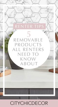 5 Removable Products all Renters Need to Know About - City Chic Decor If you live in a rental apartm Apartment Makeover, Diy Apartment Decor, Small Apartment Decorating, Decorating Rental Apartments, Small Apartment Hacks, Rental Kitchen Makeover, Decorate Apartment, Apartment Ideas, Rental Home Decor