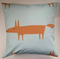 "Cushion Cover in Scion Mr Fox Aqua 16"" by SimplyDivineThings on Etsy https://www.etsy.com/uk/listing/223143179/cushion-cover-in-scion-mr-fox-aqua-16"