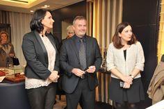 Gina Bruzzi, designer, Gabriele Niccolai, studioso Leonardo, e Marta Delsante November