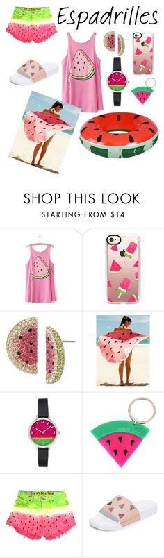"""""""WATERMELON WEEKEND"""" by mineemoe-1 ❤ liked on Polyvore featuring Casetify, Betsey Johnson, Charlotte Olympia and South Parade"""