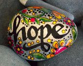 breathein nature / painted rock / Sandi Pike by LoveFromCapeCod