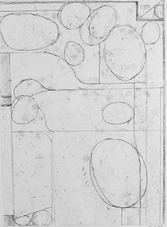 Untitled from the portfolio Six Soft-ground Etchings by Richard Diebenkorn Abstract Drawings, Art Drawings, Abstract Art, Art Sketches, Richard Diebenkorn, House Drawing, Art Sketchbook, Sketchbook Inspiration, Mondrian