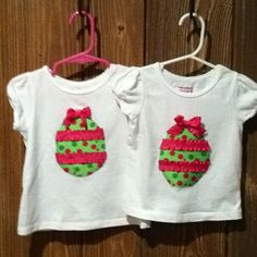 Linley and Paisley's Easter shirts