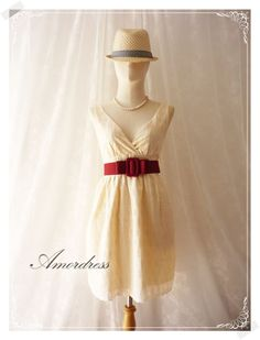 Cream Lace Dress Vintage Inspired Dress Cream Hobo by Amordress, $37.50