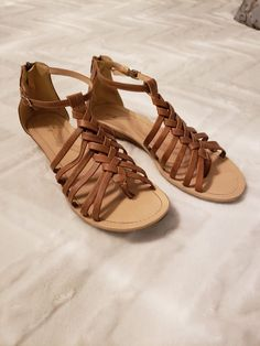 08c90a3527b288 Brown Leather Sandals 8.5  fashion  clothing  shoes  accessories   womensshoes  sandals (ebay link)