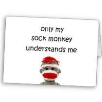 monkey love ♥ Stitch Witchery, Sock Toys, Sock Animals, Monkey Business, My Socks, True Words, I Card, Sock Monkeys, Fun