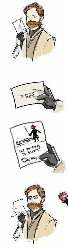Star Wars Comics || Obi-Wan Kenobi, Darth Maul, and Qui-Gon Jin