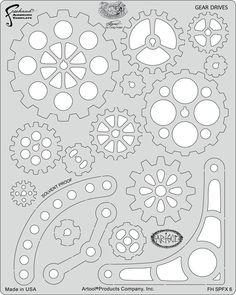 artool freehand airbrush templates steampunk fx gear drives