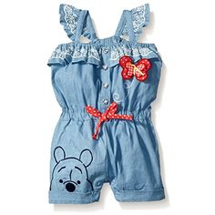 Disney BabyGirls Winnie The Pooh Romperblue12 Months ** You can find out more details at the link of the image.