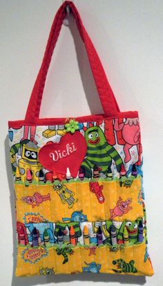 Personalized Yo Gabba Gabba Coloring Bag GREAT GIFT IDEA. $20.00, via Etsy.