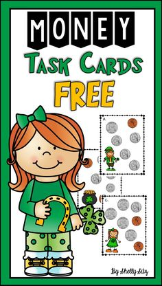 Counting Money for 2nd grade--FREEBIE--St. Patrick's Day math center for second grade
