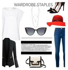 """""""wardrobe stapeles"""" by janicevc on Polyvore featuring Lucky Brand, STELLA McCARTNEY, Frame Denim, Hahn, Chicsense, Kate Spade and Fendi"""