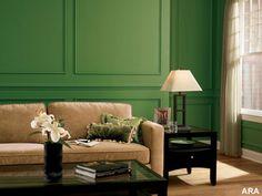 Bilderesultat for painted green wall