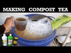 Learn how to make compost tea, how to apply it to your lawn and garden. A simple natural solution to feed and fertilize without chemicals [LEARN MORE] Organic Compost, Organic Gardening, Gardening Tips, Organic Plants, Indoor Gardening, Liquid Fertilizer, Organic Fertilizer, How To Make Compost, Making Compost