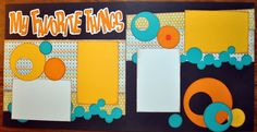My Favorite Things 2 Page 12x12 Scrapbook Layout | eBay