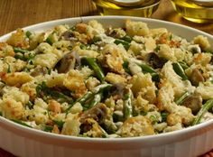 Forget canned veggies! Fresh green beans, along with mushrooms, thyme and Sister Schubert's Parker House Style Rolls, make this one extraordinarily delicious dish.