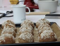 Frühstücksweckerl... - Backen mit Christina ... Bread Rolls, French Toast, Bakery, Brunch, Food And Drink, Breakfast, Baguette, Pizza, Blog