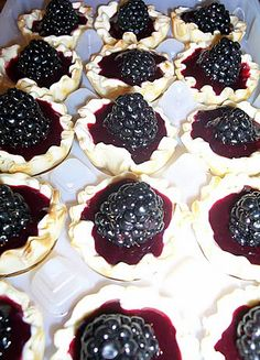 White Chocolate & Blackberry Tartletes