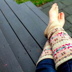 Sweater leg warmers, I can make pillows from the body and legwarmers from the sleeves!! It's a 2-fer!! LOL!!!
