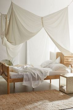 Shop Tessie Canopy at Urban Outfitters today. Canopy Bedroom, Diy Canopy, Bedroom Decor, Canopy For Bed, Gazebo Canopy, Canopies, Bedroom Ideas, Four Poster Bed Frame, Bed Frame And Headboard