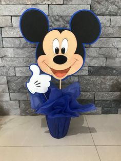 Mickey mouse centerpiece by yoyisfoamworld on Etsy