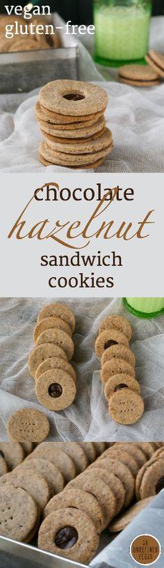 Chocolate Hazelnut Sandwich Cookies     An Unrefined Vegan     V GF