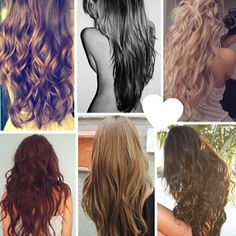 6 cute simple hair styles for long hair  (Please excuse the half naked girl on top :/)
