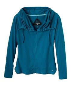 Invest in fashion that invests in the Earth. Crafted from a sustainable blend of hemp and organic cotton, this soft top flaunts a soft feel and a natural texture. prAna's fitted Reba offers figure flattery with its drop waistline and raw edge seaming details. Its zipper closure and sideseam pockets hold convenient appeal, while an oversize neck and adjustable hood speak to casual style.