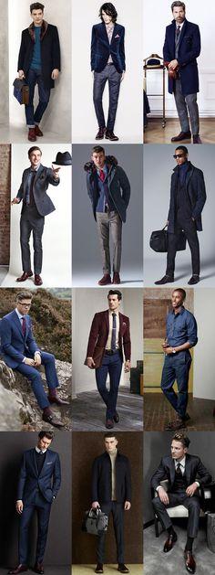 Men's Alternative Autumn/Winter Footwear Options: Burgundy Footwear Lookbook Inspiration