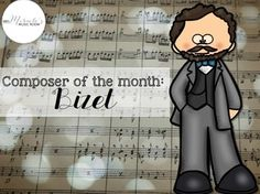 "Looking for ways to integrate more listening lessons and music history into your general music class? This ""Composer of the Month"" set focuses on Georges Bizet, and includes listening lessons, worksheets, slideshows, and more!"