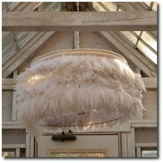 Rachel Ashwell Shabby Chic Couture Feather Light Chandelier, Rachel Ashwell, White Decorating, Shabby Chic Decorating, Distressed Furniture, Cottage Style, Flea Markets