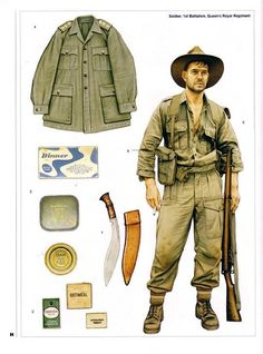 Chindits Long Range Penetration Groups, were special operations units of the British and Indian armies - Robert Hirstwood (not pictured, DNA) - - Soldier Battalion Queen's Royal Regiment British Army Uniform, British Uniforms, Ww2 Uniforms, British Soldier, Military Uniforms, Military Gear, Military History, Anzac Soldiers, Burma Campaign