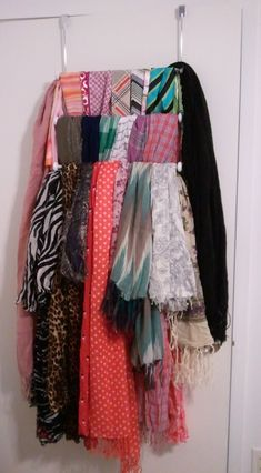 I could stop collecting scarves... Or I could figure out how best to store them. Organization it is!