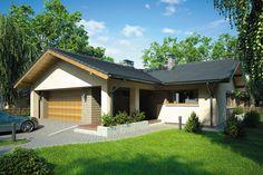 บ้านขนาดกลาง หลังคาทรงจั่ว มาพร้อมกับเฉลียงหน้าบ้าน ความสุขที่อิงแอบธรรมชาติ   NaiBann.com
