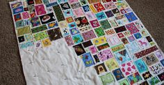 I'm at it again! I've been sorting through my I-Spy scraps to dig out little pieces for this Ticker Tape quilt (inspired by this one ). This...