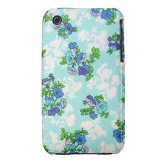 Retro Shabby Chic Flowers iPad Touch Case iPhone 3 Cover