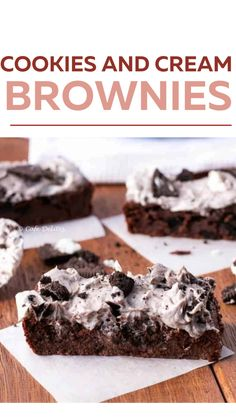 Brownie Recipes, Cookie Recipes, Dessert Recipes, Cafe Delight, Delicious Desserts, Yummy Food, Best Sweets, Cookies And Cream, Yummy Cookies