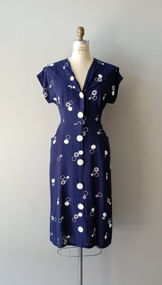 1940s Action Dot | rayon dress | $148.00