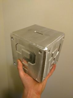 A machined aluminum 6061 GTAW welded piggy bank reminiscent of the Super Mario Brothers. Welding Classes, Welding Jobs, Welding Helmet, Shielded Metal Arc Welding, Metal Welding, Welding Art, Welding Design, Forging Metal, Mario Brothers