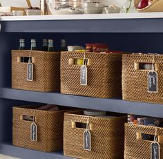 Wicker Baskets for sale! We love wicker laundry baskets, rattan baskets, and more in a beach home. Basement Storage, Basement Walls, Bathroom Storage, Basement Ideas, Modern Basement, Industrial Basement, Cozy Basement, Walkout Basement, Basement Apartment