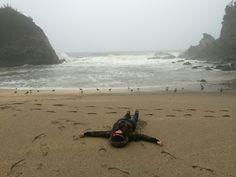 Sand angel. Simpson Beach.