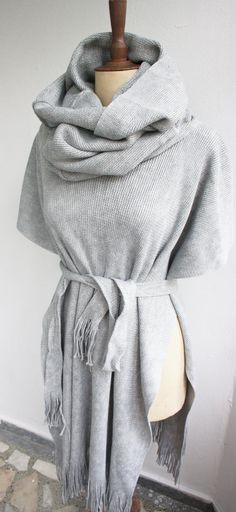 Hey, I found this really awesome Etsy listing at https://www.etsy.com/listing/212270864/ponchogray-hooded-ponchogray